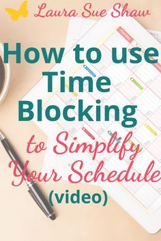 Learn how to implement time blocking to simplify your schedule and learn how it will make you more focused and productive.