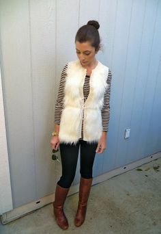 I love this fuzzy vest