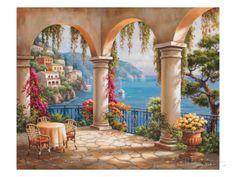 オールポスターズの ソン・キム「Terrace Arch II」アート