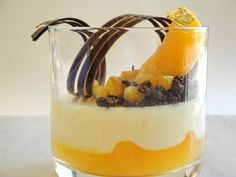 Citrus Cremeux with Orange Gelee & Chocolate Streusel