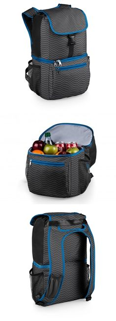 "Picnic Time ""Pismo"" Cooler Backpack with Waves Pattern"