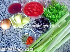 Mancare de praz cu masline Ingrediente Celery, Vegetables, Ethnic Recipes, Food, Vegetable Recipes, Eten, Veggie Food, Meals, Veggies