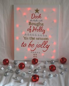 Deck the Halls Christmas Canvas