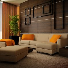 Living Room Color Combinations warm color wall paint and brown shades sofa design ideas for
