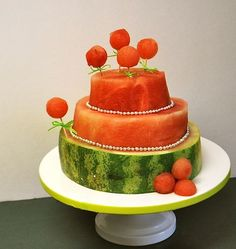 just when i thought water melon couldn't get any better... then they make it look like cake!