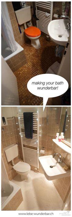 Badezimmer selbst renovieren vorher nachher Renovieren