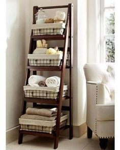 Bathroom storage.  This would look great in the laundry room.