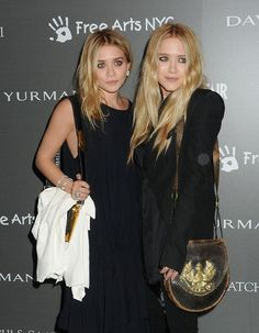 mary kate and ashley black outfit