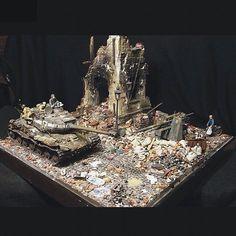 1945 PART1 scale: 1:35 By: Sergey Bershitsky From: Diorama.ru #scalemodel #plastimodelismo #miniatura #miniature #miniatur #hobby #diorama #humvee #scalemodelkit #plastickits #usinadoskits #udk #maqueta #maquette #modelismo #modelism