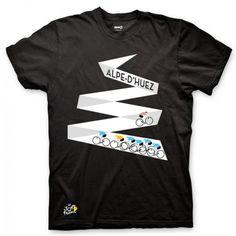 ebae50af87d Tour de France Alpe d Huez T-Shirt Cycling T Shirts