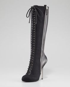 Poot your best foot forward! Laced Double-Zipper Tall Boot by Giuseppe Zanotti at Neiman Marcus.