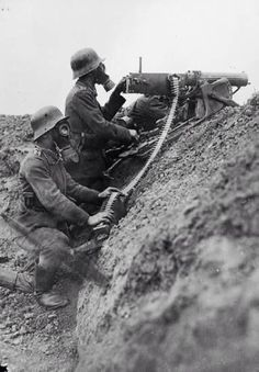 German machine gun MG08