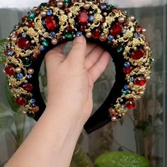 Jeweled Headband, Crystal Headband, Rhinestone Headband, Diy Headband, Headbands, Headband Styles, Diy Hair Accessories, Fashion Accessories, Hair Jewelry