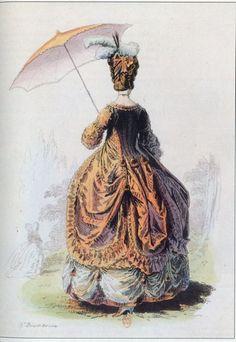 Baroque et Rococo La robe a une queue plus longue que les ailes, les manches sont en sabot