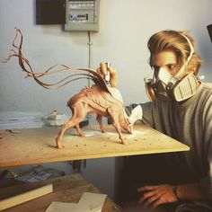 No photo description available. Super Sculpey, Paperclay, Sculpture Clay, Animal Sculptures, Grafik Design, Creature Design, Mythical Creatures, Clay Art, Art Dolls