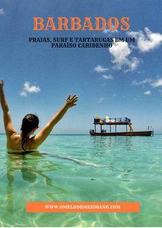Barbados é uma linda ilha no Caribe, que além do espetacular mar com infinitos tons de azul, ainda tem muitas atividades. Surf, mergulho, snorkel ou aproveitar a praia mesmo... tudo é permitido nesse paraíso caribenho!