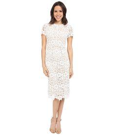 Shoshanna Beaux Midi Dress Optic - 6pm.com