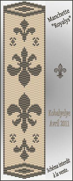 "Manchette la ""Royalys""..... - Le monde des perles de Kobalyelye"