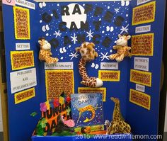 School reading fair projects and examples of reading fair boards for elementary school students. Ideal for first grade and second grade reading fair project boards. Reading Projects, Book Projects, School Projects, Reading Fair, 3rd Grade Reading, Preschool Science Activities, Science Experiments Kids, Science Fair Projects Boards, Giraffes Cant Dance