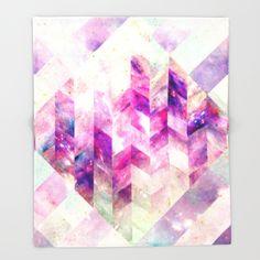 Abstract Geometric Pink Galaxy Throw Blanket