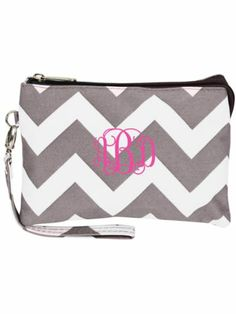 $10.50 Gray Chevron Crossbody Clutch