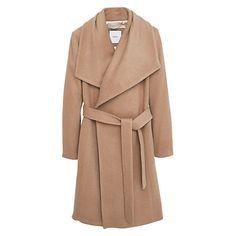 Buy Mango Flap Wool Coat, Medium Brown Online at johnlewis.com