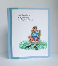 Golden Oldies  Norm (Sku#I1240) Art Impressions.  Funny handmade masculine card.