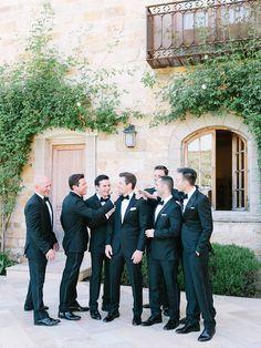 Photography: Luna de Mare  - lunademarephotography.com Groomsmen's Attire: The Black Tux - http://theblacktux.com Groom's Attire: The Black Tux - http://theblacktux.com   Read More on SMP: http://www.stylemepretty.com/2015/09/21/intimate-summer-sunstone-villa-wedding/