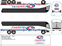 Cedric Collins uploaded this image to 'Paper Models'. See the album on Photobucket. Paper Toys, Paper Crafts, Coach Canada, Paper Train, Free Paper Models, Lehigh Valley, Rolling Stock, Busses, Little Boxes