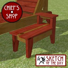 Sketch of the Day: Sun Chair Side Table