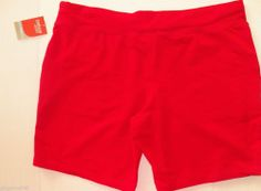 Danskin Now Red Shorts Junior Size 20 XXL  New with Tag