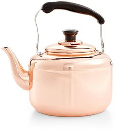 No matter how you feel about #MarthaStewart, this gleaming copper teapot is a real charmer. I love how the handle fits my hand to pour the hot water from the spout.