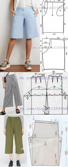 Sewing Pants, Sewing Clothes, Diy Clothes, Fashion Sewing, Diy Fashion, Origami Fashion, Fashion Details, Dress Sewing Patterns, Clothing Patterns