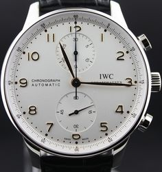 IWC, black on white