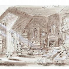 Set design by Oliver Messel for the film Suddenly, Last Summer, directed by Joseph L. Mankiewicz, Columbia Pictures, Watercolour on paper. Museum no. Stage Set Design, Theatre Design, Art Fund, National Art, Summer Set, The V&a, Columbia Pictures, Victoria And Albert Museum