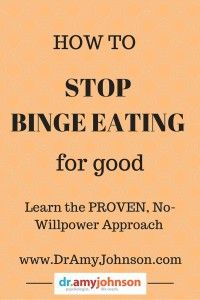 A brand new, no-willpower approach to ending Binge Eating Disorder (BED) quickly and permanently (www.DrAmyJohnson.com)