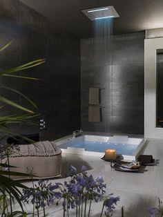 Paz y relax en el #baño con nuestras #bañeras con equipamiento. Bienestar unido al diseño