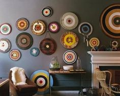 Vintage Dart Boards on a wall