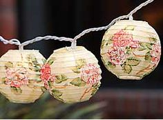 Hanging Garden String Lights - Garden Bedroom or Kitchen these would look adorable in so many ways!!!
