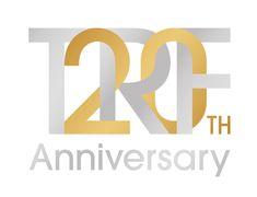 TRF 20th                                                                                                                                                                                 More Chinese Typography, Typography Logo, Logo Branding, Branding Design, Conference Logo, Work Anniversary, 10 Logo, Bike Logo, Word Design