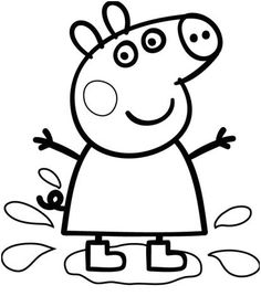 Peppa Pig Coloring Pages, Minion Coloring Pages, Valentine Coloring Pages, Preschool Coloring Pages, Easy Coloring Pages, Disney Coloring Pages, Printable Coloring Pages, Coloring Pages For Kids, Coloring Books