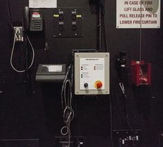 More black & red backstage at #theguthrietheater #backstage #stagecraft #black #red #precautions #minnesota #minneapolis #theatre