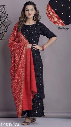 Kurtis & Kurtas Women's Polka Dot Printed Rayon Kurti Fabric: Kurti - Rayon Dupatta - Rayon Sleeves: 3/4th Sleeves Are Included Size: Kurti - M - 38 in L - 40 in XL - 42 in Dupatta - 2 Mtr Length: Kurti - Up To 54 in Type: Stitched Description: It Has 1 Piece Of Women's Kurti & 1 Piece Of Dupatta Work: Printed Country of Origin: India Sizes Available: S, M, L, XL, XXL, XXXL   Catalog Rating: ★4.1 (3141)  Catalog Name: Women's Polka Dot Printed Rayon Kurti CatalogID_122956 C74-SC1001 Code: 685-1019473-