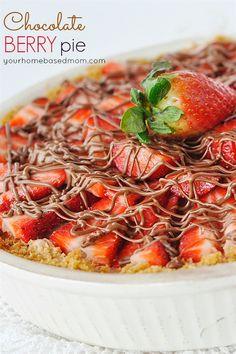 Strawberry Chocolate Cream Pie