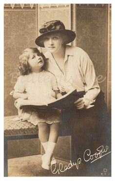 Photographic Postcard Gladys Cooper and Daughter by Butterflysue, $8.00