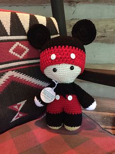 Ravelry: Project Gallery for Big Head Baby Doll pattern by Jenn Dysart Cute Crochet, Crochet Crafts, Yarn Crafts, Crochet Baby, Crochet Projects, Crochet Disney, Crochet Mickey Mouse, Crochet Doll Pattern, Crochet Patterns Amigurumi