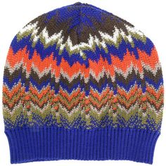 Missoni patterned beanie (8.545 RUB) ❤ liked on Polyvore featuring accessories, hats, multicolour, beanie caps, beanie cap hat, pattern hats, missoni hat and print hats