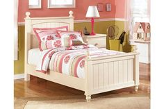 Cottage Retreat Twin Poster Bed by Ashley HomeStore, White