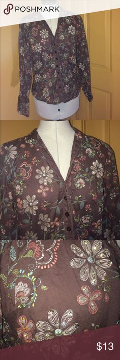 Autograph Top size Medium Autograph New York brown floral top size Medium. Smoke Free home and dog Mom. Autograph Tops