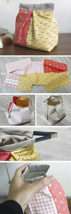 ow to Sew Fabric Gift Bags - Free Photo Tutorial http://www.free-tutorial.net/2016/12/fabric-gift-bag-tutorial.html